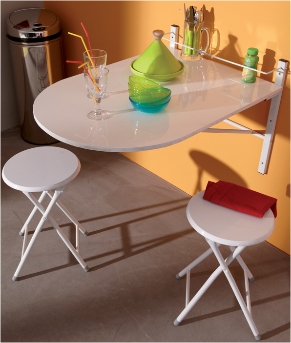 Bon plan un meuble design et discount avec for Grande table murale rabattable