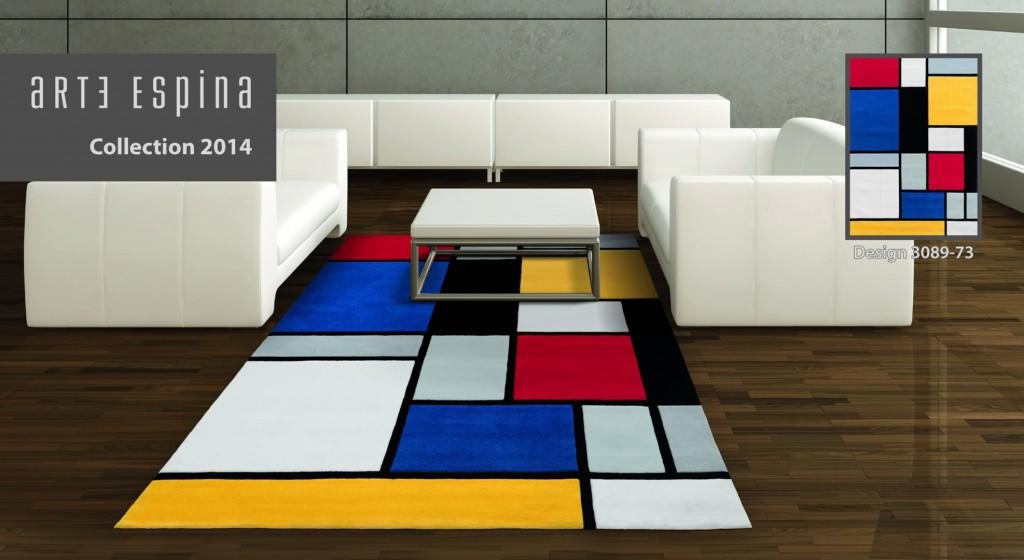 Un tapis design au meilleur prix avec rennes des bons plans - Tapis carres multicolores ...